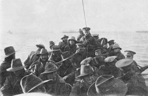 Anzac Landing Troops in boat